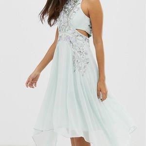 Sequin Embellished side Cutout cocktail dress